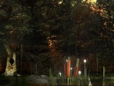 Projekt oświetlenia terenu wokół dworku 03