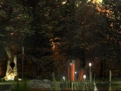 Projekt oświetlenia terenu wokół dworku 06